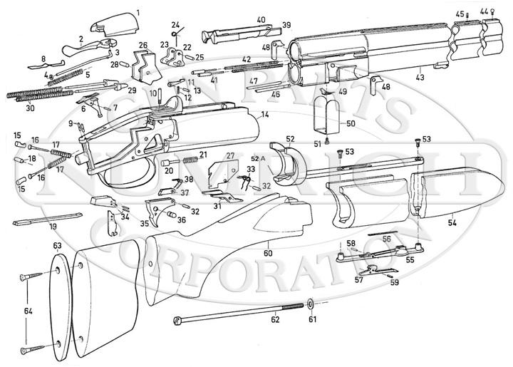 Savage/Stevens/Springfield/Fox Shotguns 333 gun schematic