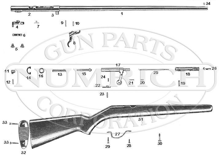Savage/Stevens/Springfield/Fox Shotguns 37 gun schematic