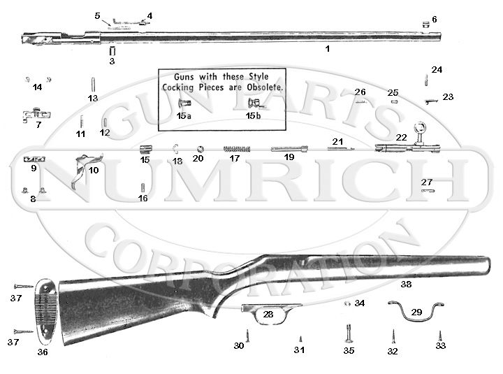 Savage/Stevens/Springfield/Fox Rifles 3D gun schematic