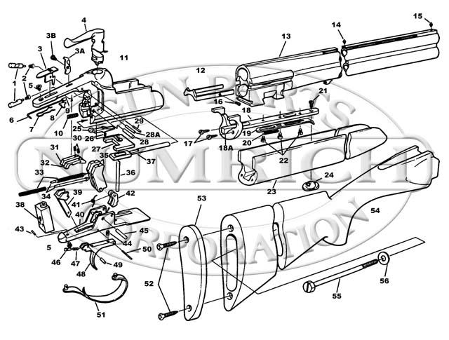 Savage/Stevens/Springfield/Fox Shotguns 440T gun schematic
