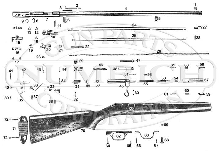 Savage/Stevens/Springfield/Fox Rifles 5 gun schematic