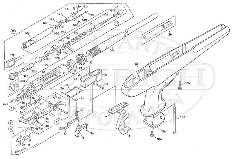 Savage/Stevens/Springfield/Fox Pistols 516FSAK gun schematic