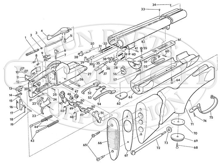Savage/Stevens/Springfield/Fox Shotguns 550 gun schematic