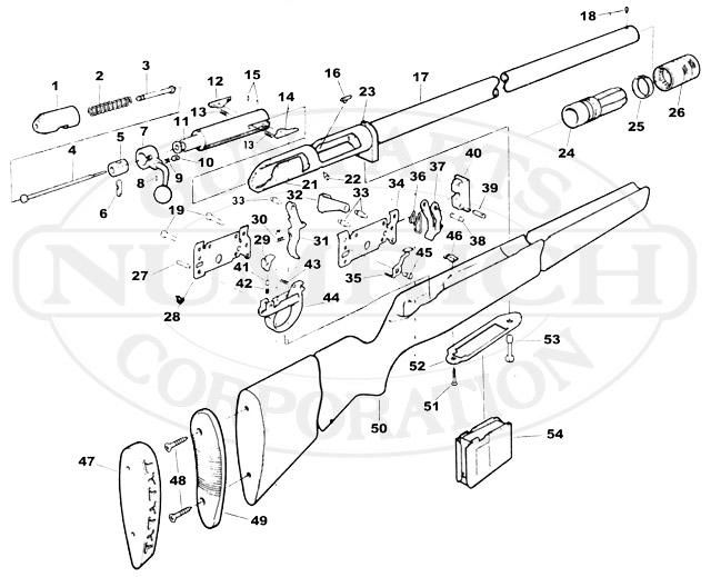 Savage/Stevens/Springfield/Fox Shotguns 18D gun schematic