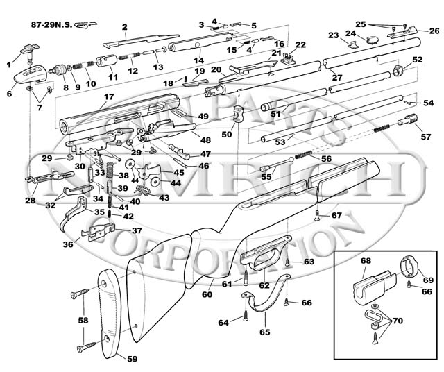 Savage/Stevens/Springfield/Fox Rifles 90 gun schematic