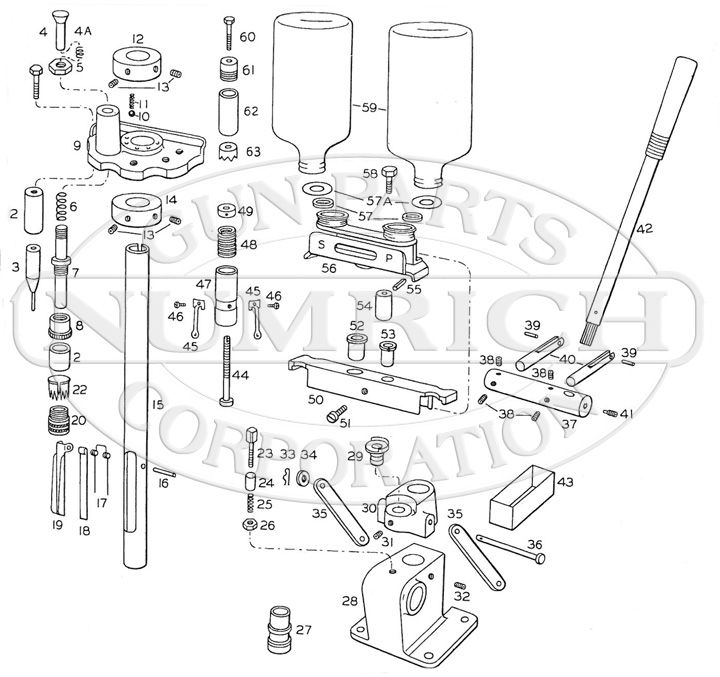 Savage/Stevens/Springfield/Fox Miscellaneous 630 Shotshell Reloading Press gun schematic