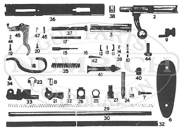 Savage/Stevens/Springfield/Fox Rifles 066B gun schematic