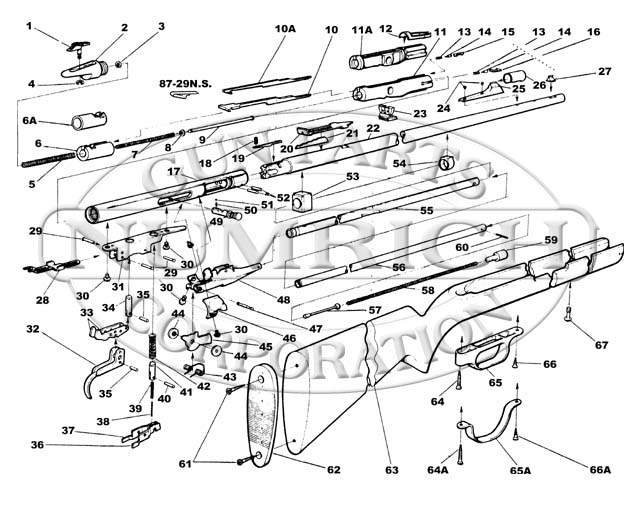Savage/Stevens/Springfield/Fox Rifles 6 Rifle Series 6P gun schematic