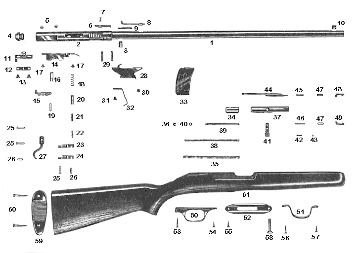 Savage/Stevens/Springfield/Fox Rifles 7 gun schematic