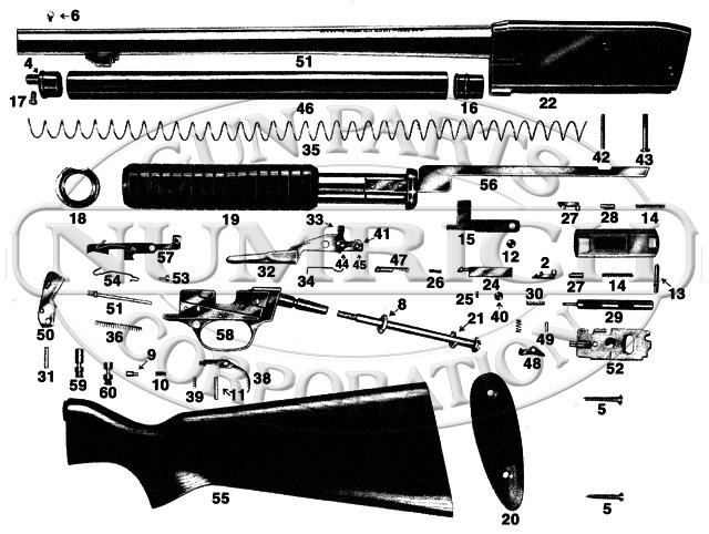 Savage/Stevens/Springfield/Fox Shotguns 820B gun schematic