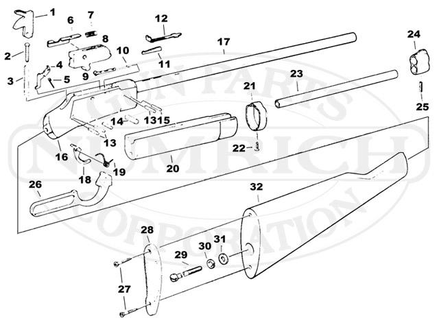 Savage/Stevens/Springfield/Fox Rifles 89 gun schematic