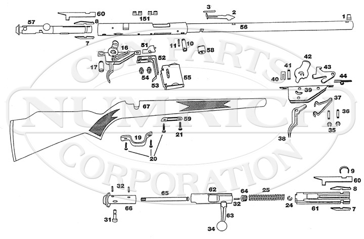 93 Rifle Schematic | Numrich