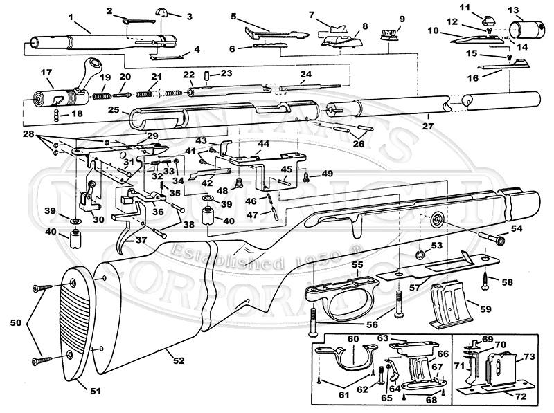 Savage/Stevens/Springfield/Fox Rifles 982DL gun schematic