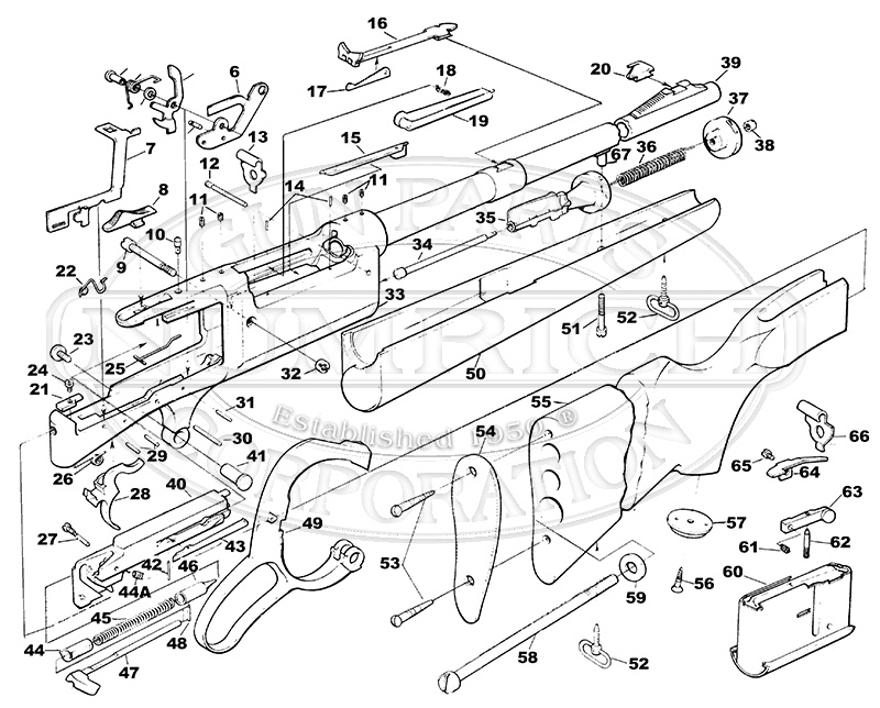 Savage/Stevens/Springfield/Fox Rifles 99 Rifle Series 99DL(M) gun schematic