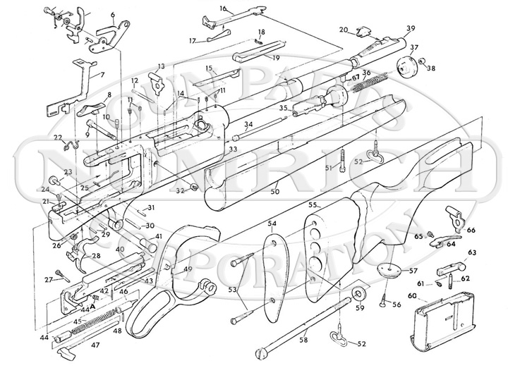 Savage/Stevens/Springfield/Fox Rifles 99 Rifle Series 99DE gun schematic