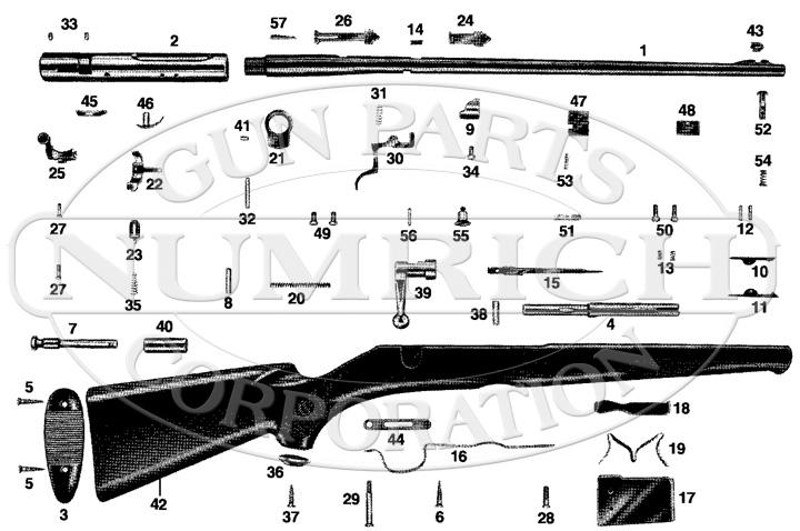 Savage/Stevens/Springfield/Fox Rifles 40 gun schematic