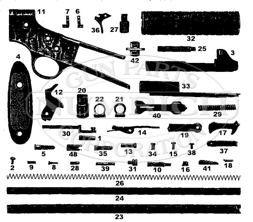 Savage/Stevens/Springfield/Fox Rifles 71 1/2 gun schematic