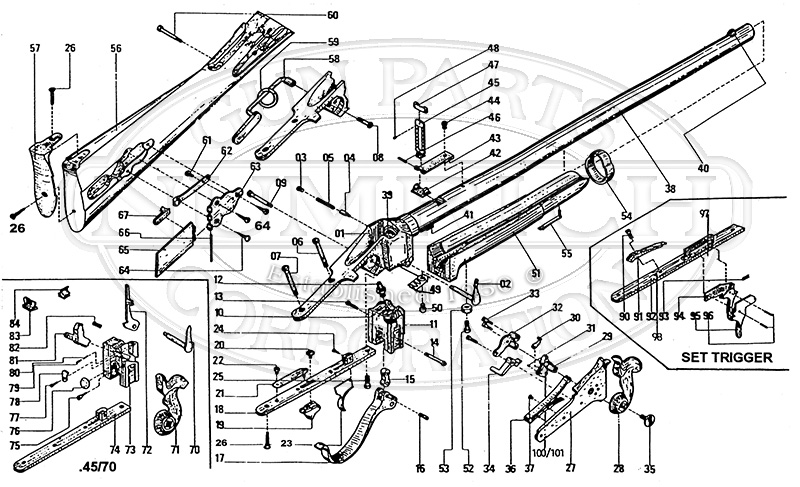Sharps 1874 Replica - IAB Italy gun schematic
