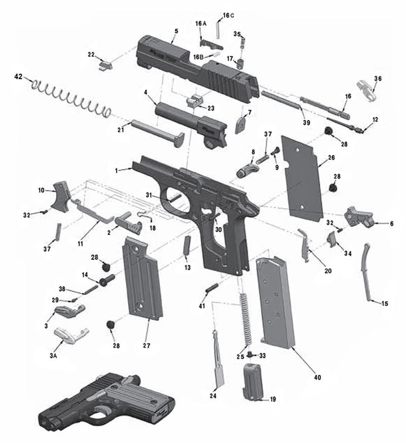Sig P938 Parts and Schematic | Numrich