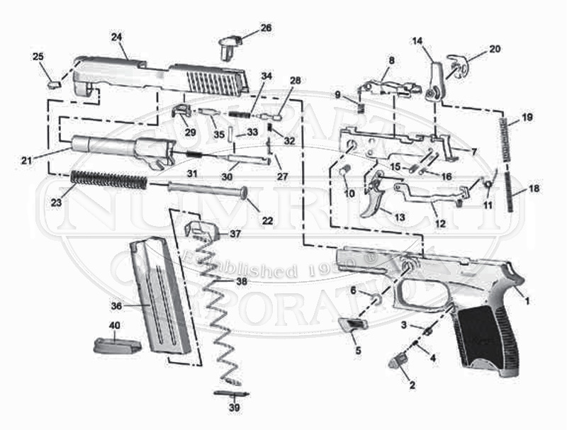 Sig Sauer P250 Parts Numrich Gun Parts