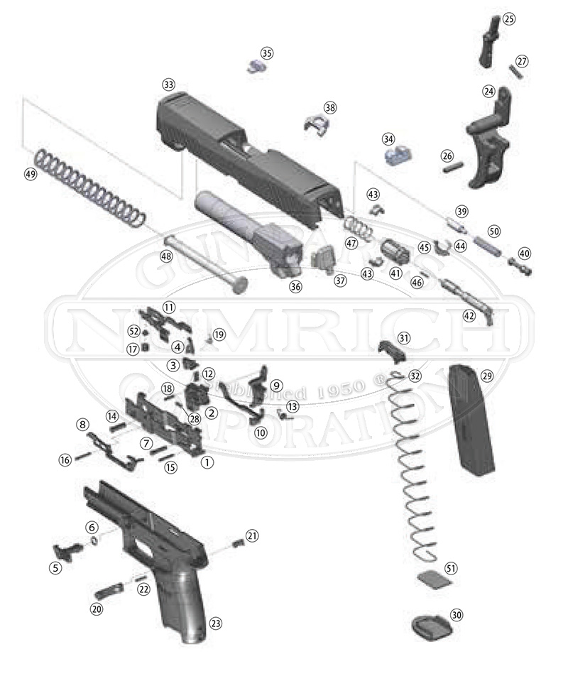 Sig P320 Parts | Sig Sauer P320 Parts and Schematic