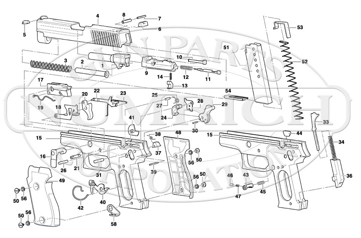 Sigarms_P220_schem Handgun Schematic Diagram on handgun information, handgun components, handgun drawings, handgun concepts, handgun prototypes, handgun diagrams, handgun accessories, handgun illustrations, handgun safety, handgun parts, handgun power, handgun blueprints, handgun dimensions,