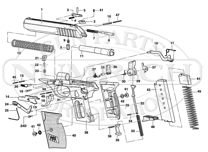 Sig Sauer 1911 Parts Diagram as well Sig Sauer P232 in addition Glock Exploded Diagram besides  on sig sauer p232 parts diagram