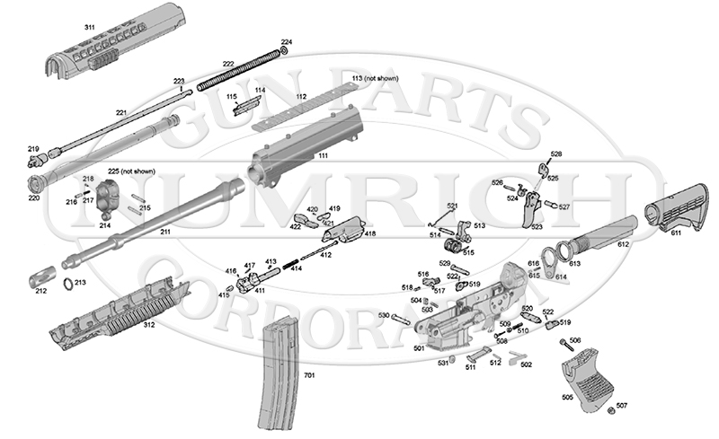 sig saure p 320 parts diagram