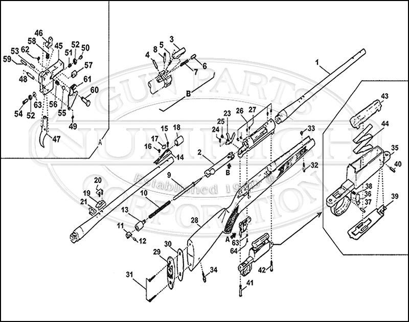 Mossberg Rifles 1500 gun schematic