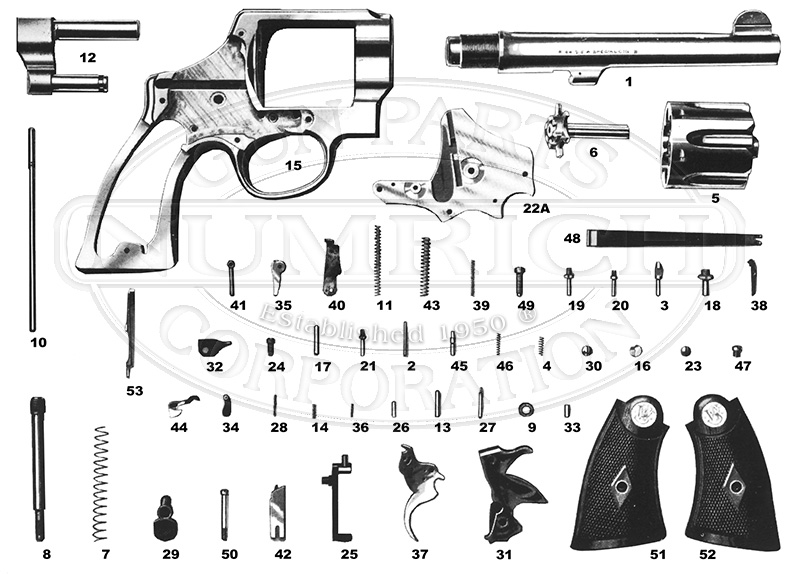 Smith & Wesson 1917 Revolver Parts, Schematics | NumrichNumrich Gun Parts