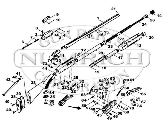 Smith Wesson Model 3000 Shotgun Parts