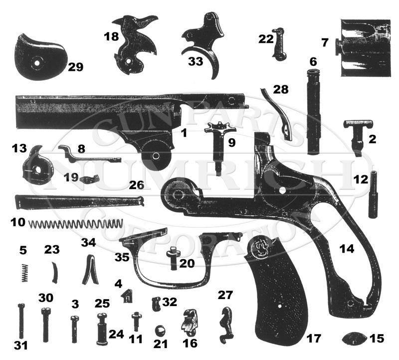 Revolver Diagram Gun - All Diagram Schematics