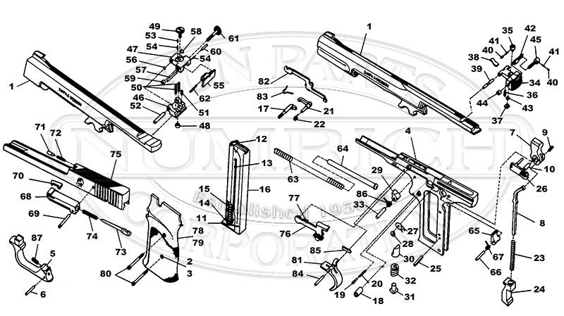 Smith & Wesson Auto Pistols 41 gun schematic