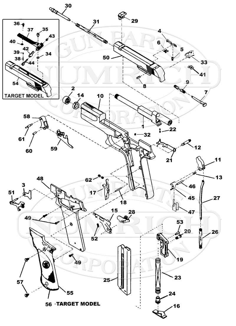 Smith & Wesson Auto Pistols 622 gun schematic