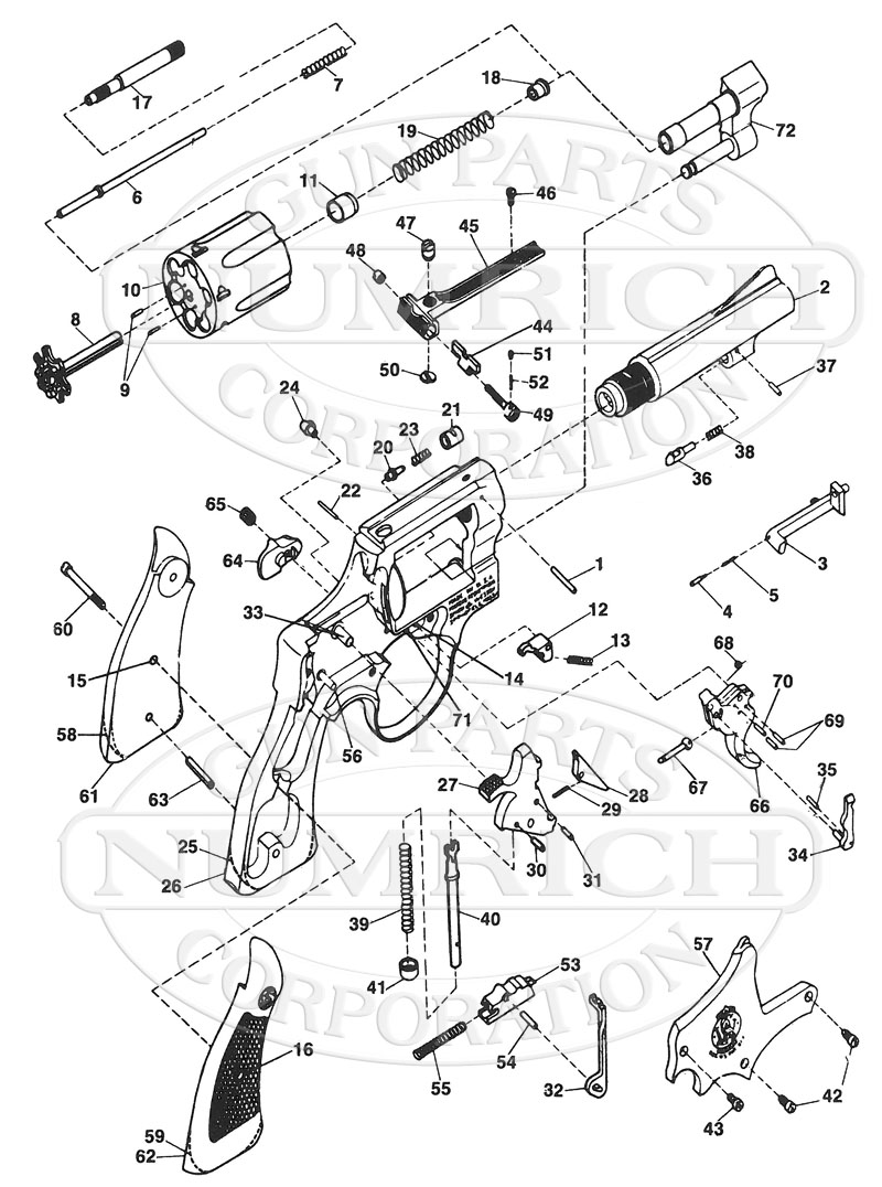 Smith & Wesson Revolvers 51 (J Frame) gun schematic