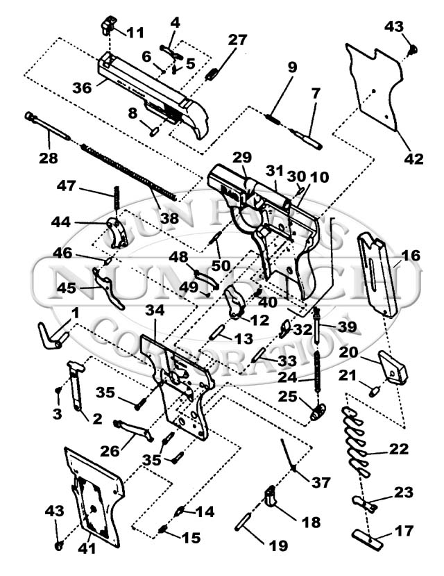 Smith & Wesson Auto Pistols 61 Escort gun schematic
