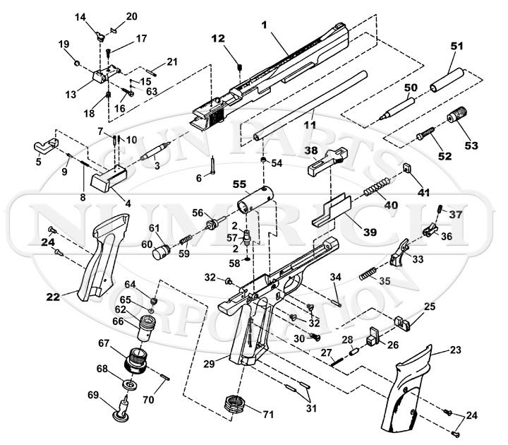 Smith & Wesson Air Pistols 78G gun schematic