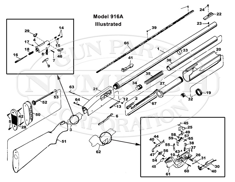 Smith & Wesson Shotguns 916-A gun schematic