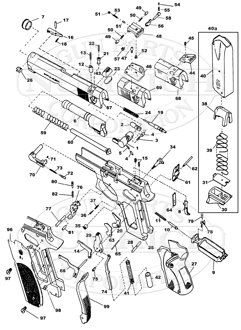 Smith & Wesson Auto Pistols 4014 (40 S&W Series) gun schematic