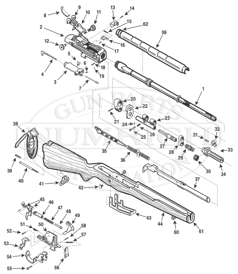 Springfield Armory M1A gun schematic