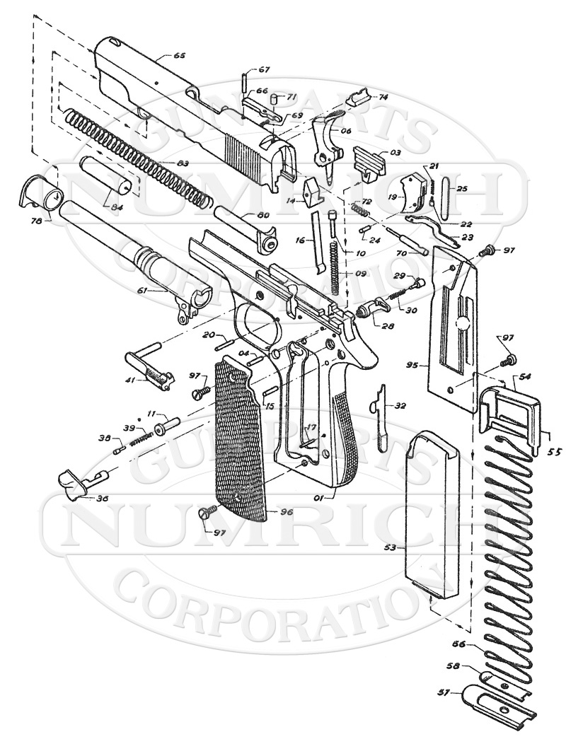 1911 Parts Diagram Spanish Everything About Wiring Kimber Exploded B Schematic Numrich Rh Gunpartscorp Com With Description