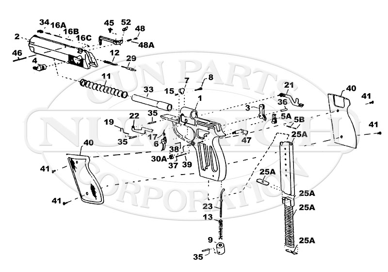 Sterling Arms Semi-Auto Pistols 400 MKII gun schematic