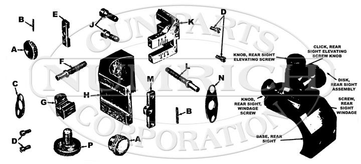 SAVAGE/STEVENS/SPRINGFIELD/FOX 416 MICROMETER SIGHT gun schematic