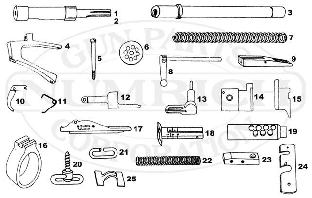 Suomi 31 Parts / Schematic   NumrichNumrich Gun Parts
