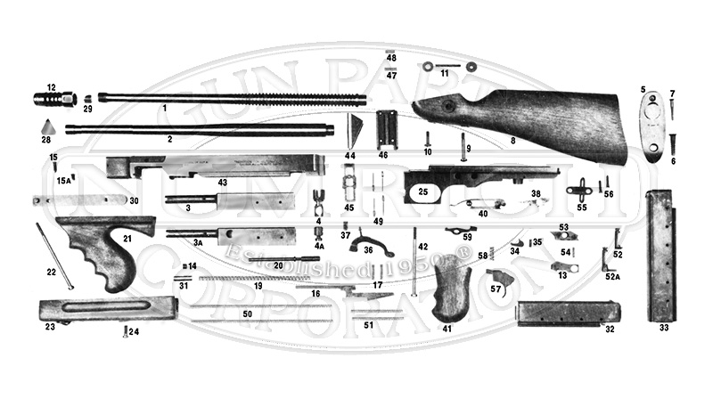 Thompson 1927A-5 gun schematic