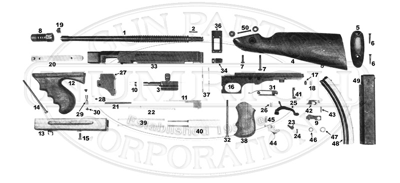 Thompson 1927A-3 gun schematic