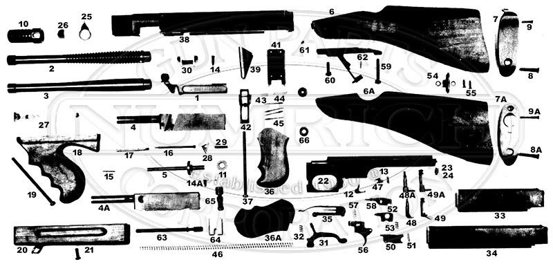 M1 M1a1 Full Auto Schematic Numrich