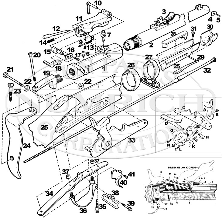 Trapdoor Rifle Diagram