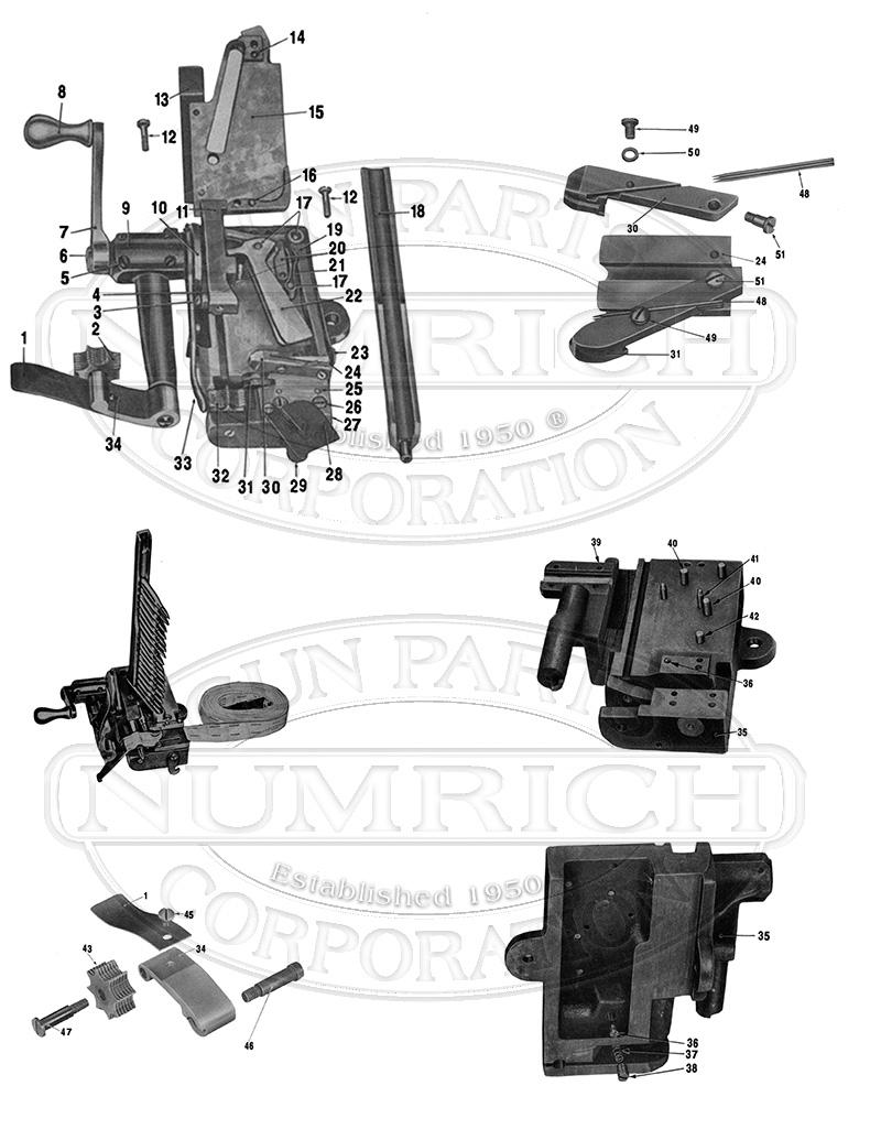 U.S. Military Machine Guns 1918 .30 Cal. Belt Loader gun schematic