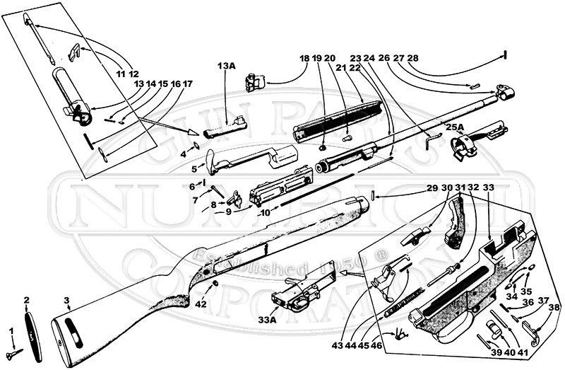 m2 carbine schematic numrich gun parts M1 M2 Carbine Parts